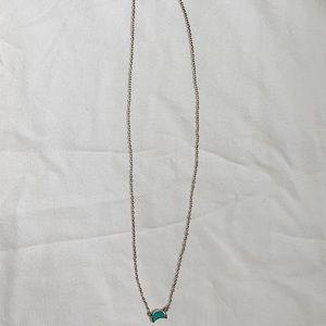 Puravida sterling silver half moon necklace!!